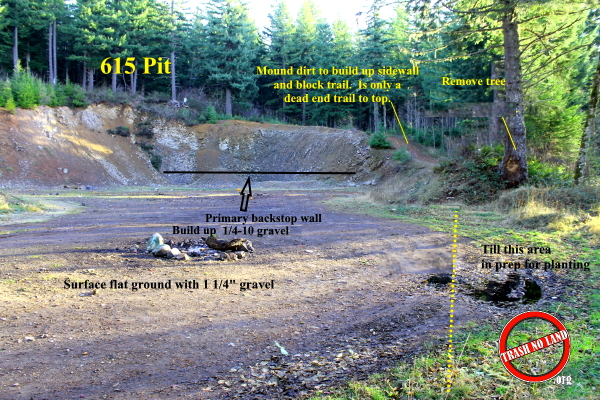 NEW SHOOTING LANE IN THE SANTIAM STATE FOREST
